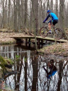 The Free Soil section of the North Country Trail offers a pretty easy ride with not much climbing and well maintained single-track.